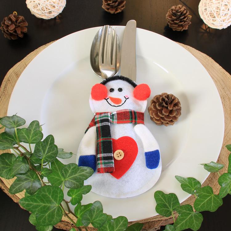 Bestekhouder sneeuwpop