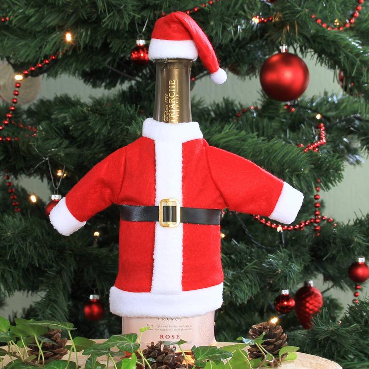 Wijnfles cover kerstman