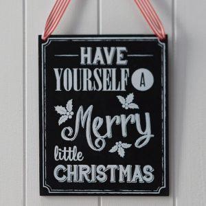 houten-krijtbord-very-merry-christmas