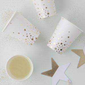 papieren-bekers-gouden-sterretjes