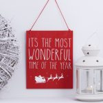 rood-houten-bord-wonderful-time-of-the-year