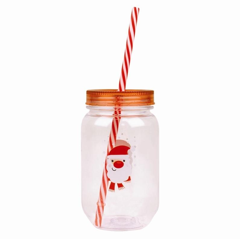 plastic-mason-jar-kerstman-met-rietje