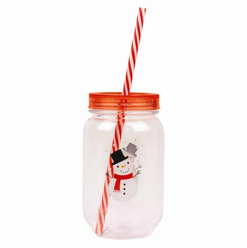 plastic-mason-jar-sneeuwpop-met-rietje