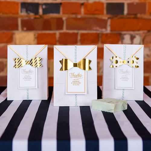 Mini bow ties DIY goud (12ST)