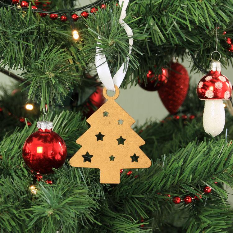 Houten kerstbal Kerstboom