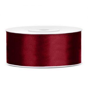 kerstversiering-satijnlint-25mm-donker-rood