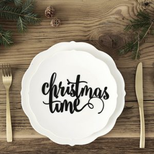 Kerst tafelaankleding