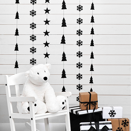 Muurslinger 'Christmas Tree' zwart