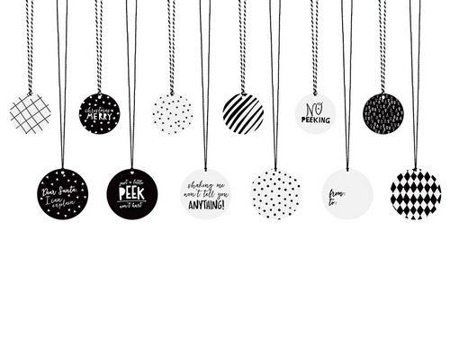 Label mix Black & White