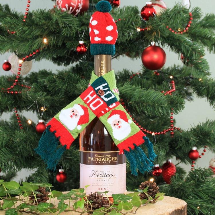 Wijnfles cover 'Kerstsjaal HoHo!'