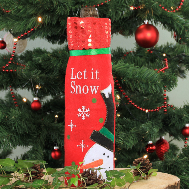 Wijnfles cover 'Let it Snow'