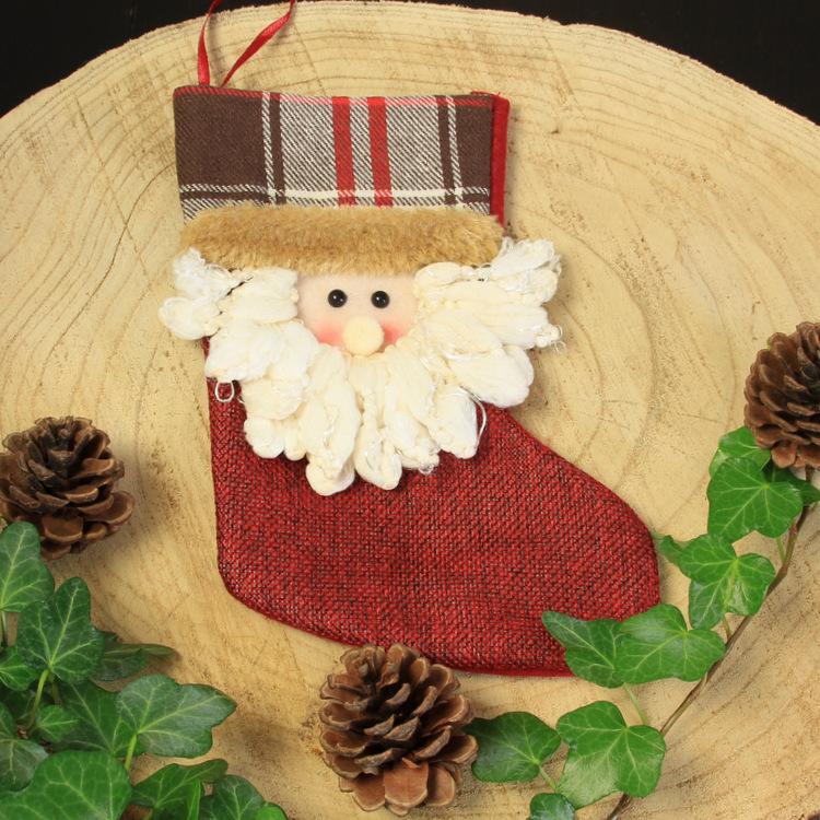 Kerstsok 'Vintage Kerstman'