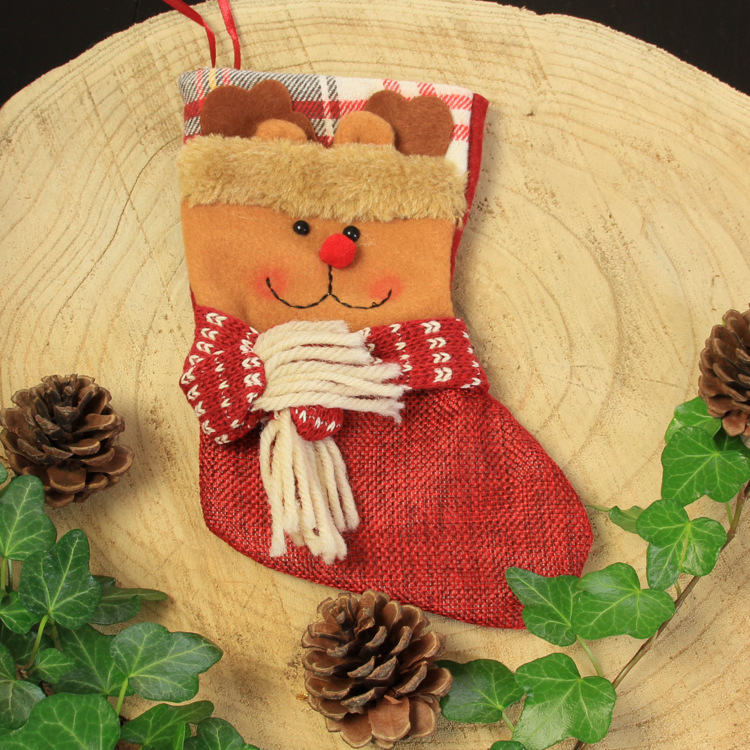 Kerstsok 'Vintage Rendier'
