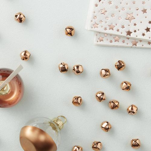 kerstdecoratie-Roségouden-belletjes-confetti-Metallic-Star