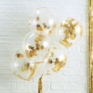 kerstdecoratie-ballonnen-gouden-ster