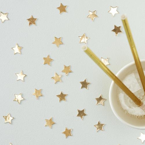 kerstdecoratie-confetti-ster-goud