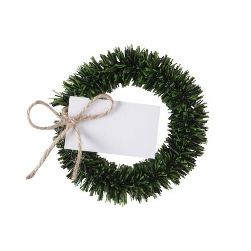 Plaatskaartjes wreath 'Rustic Christmas' (4ST)