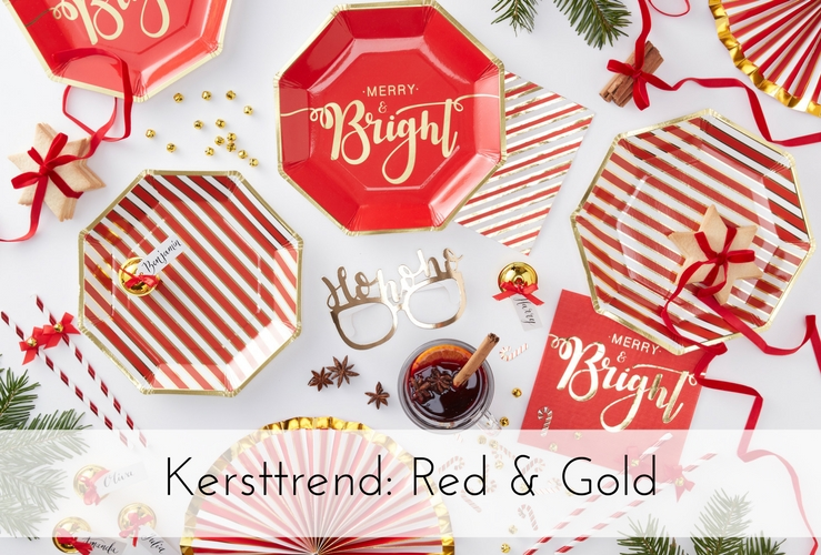 Kersttrend 2017: Red & Gold