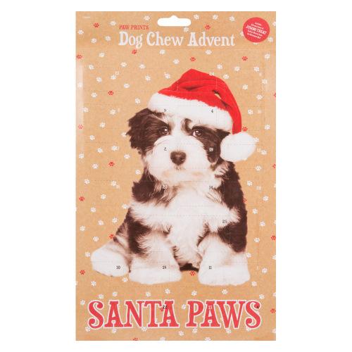 Adventkalender met hondenkoekjes