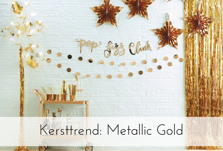 Kersttrend 2017: Metallic Gold