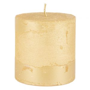 rustieke-kaars-gold-metallic-small