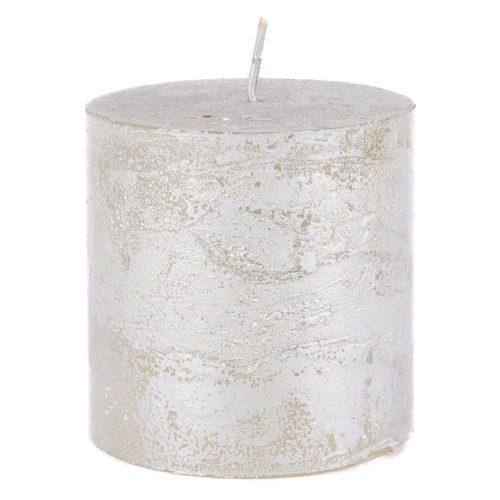 rustieke-kaars-silver-metallic-small