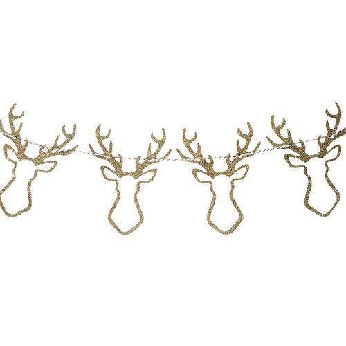 kerstversiering-houten-rendier-slinger-gold-glitter-christmas-night