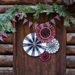 kerstversiering-paper-fans-tartan-2