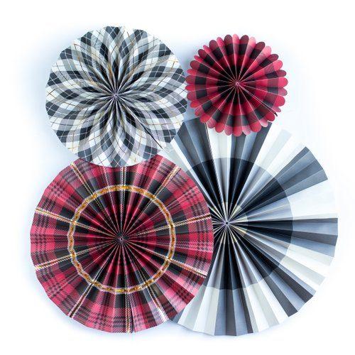 kerstversiering-paper-fans-tartan