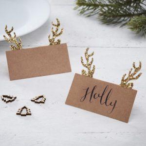kerstversiering-plaatskaartjes-gold-glitter-antler-rustic-christmas-2