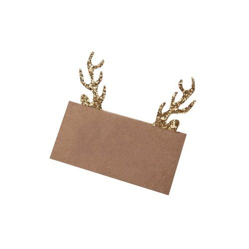 kerstversiering-plaatskaartjes-gold-glitter-antler-rustic-christmas