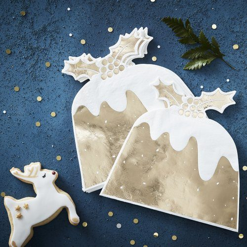 kerstversiering-servetten-christmas-pudding-goud-christmas-night-2