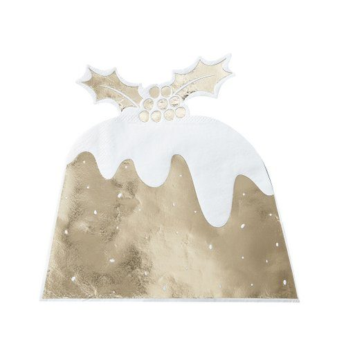 kerstversiering-servetten-christmas-pudding-goud-christmas-night
