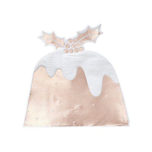 kerstversiering-servetten-christmas-pudding-rosegoud-rustic-christmas