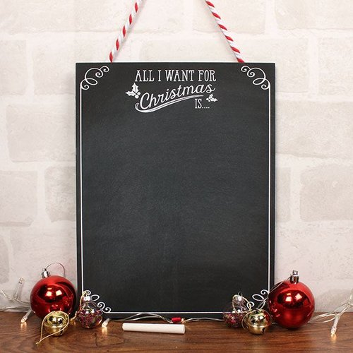 kerstversiering-all-i-want-for-christmas-krijtbord