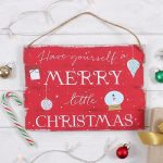 kerstversiering-merry-little-christmas-bord-rood