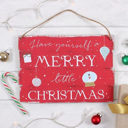 kerstversiering-merry-little-christmas-bord-rood