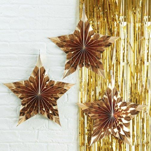 kerstversiering-paper-fans-goud-metallic-star
