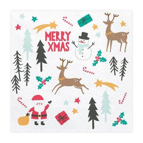 kerstversiering-servetten-merry-xmas-christmas-doodles