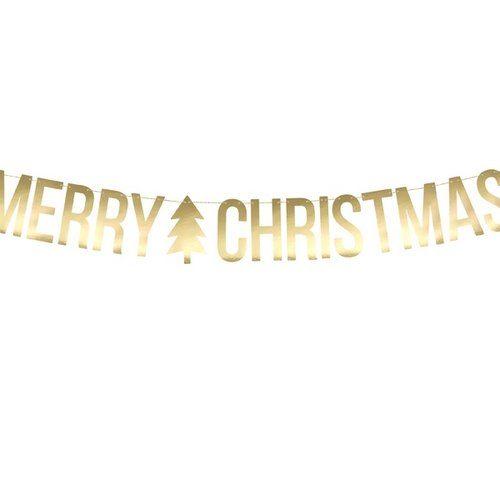 kerstversiering-slinger-merry-christmas-goud