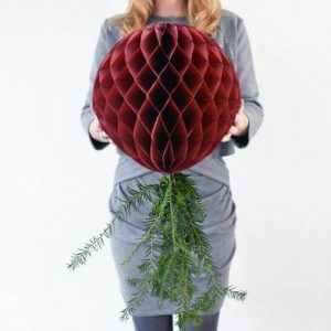 kerstversiering-honeycombs-bordeaux-rood