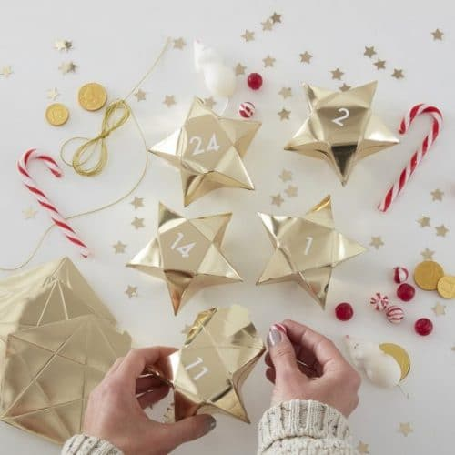 kerstversiering-adventdoosjes-kit-gold-star-gold-glitter-2