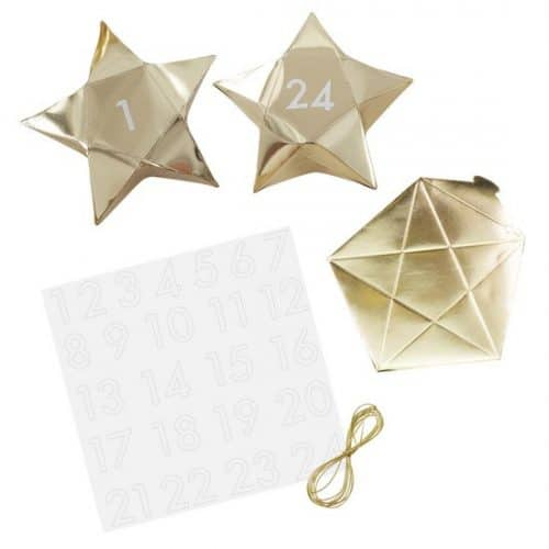 kerstversiering-adventdoosjes-kit-gold-star-gold-glitter