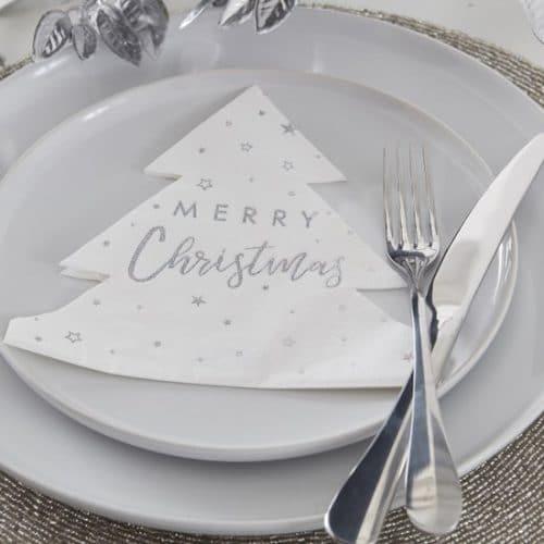 kerstversiering-servetten-christmas-tree-silver-glitter