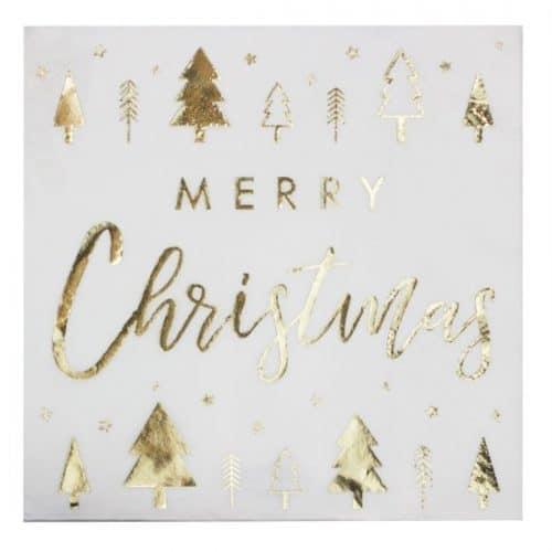 kerstversiering-servetten-merry-christmas-gold-glitter