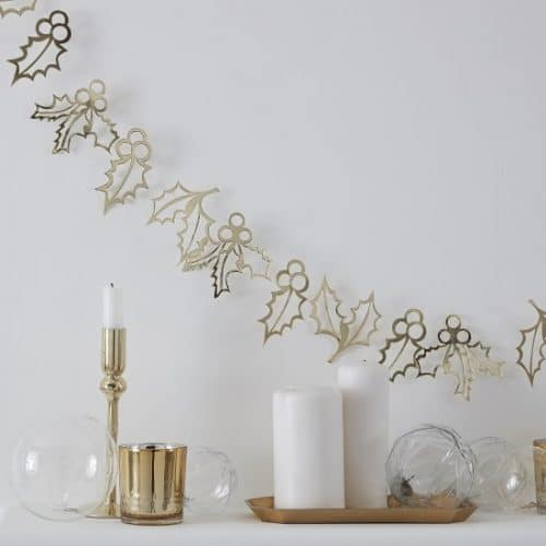 kerstversiering-slinger-holly-christmas-gold-glitter