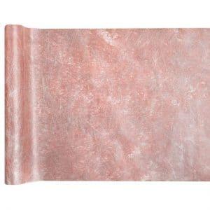kerstversiering-tafelloper-metallic-fanon-rose-gold (1)