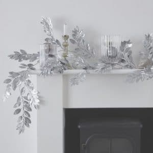 kerstversiering-zilveren-foliage-guirlande-silver-glitter