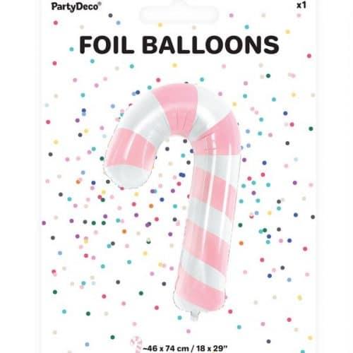 kerstversiering-folieballon-candy-cane-pink-christmas