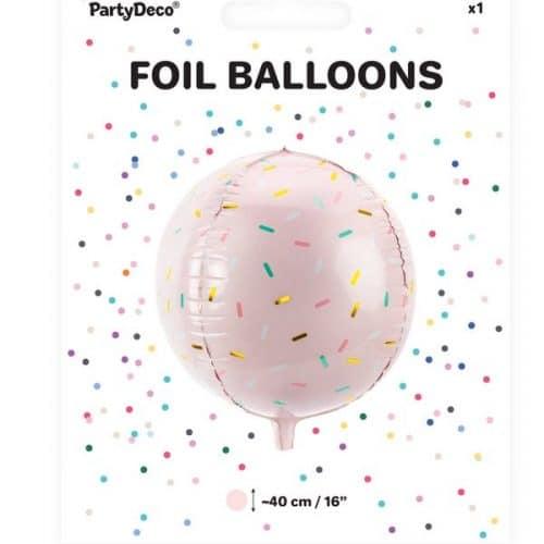 kerstversiering-folieballon-sprinkle-ball-pink-christmas